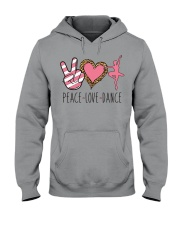 Peace Love Dance - Ballet Hooded Sweatshirt thumbnail