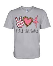 Peace Love Dance - Ballet V-Neck T-Shirt thumbnail