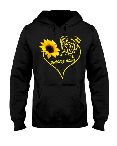 Bulldog mom sunflower 9997 0005