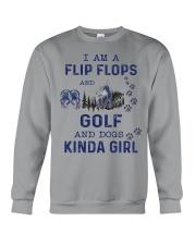 I Am A Flip Flops Kinda Girl - Golf Crewneck Sweatshirt thumbnail