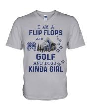 I Am A Flip Flops Kinda Girl - Golf V-Neck T-Shirt thumbnail