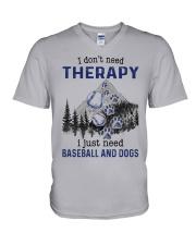 I Don't Need Therapy - Baseball V-Neck T-Shirt thumbnail