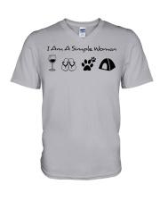 SIMPLE WOMAN tent ha V-Neck T-Shirt thumbnail