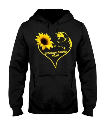 Siberian husky mom sunflower 9997 0005