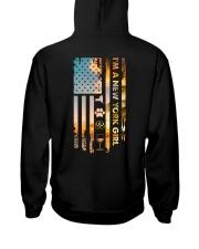 New York USA Flag Hooded Sweatshirt back
