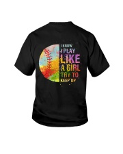 softball girl try to keep up Youth T-Shirt thumbnail