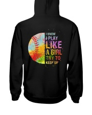 softball girl try to keep up Hooded Sweatshirt back