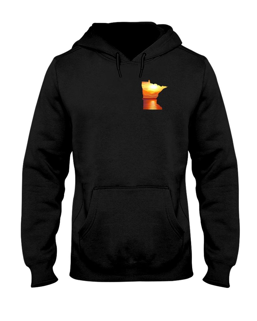 Minnesota USA Flag lakesun VK campfire 3PT Hooded Sweatshirt