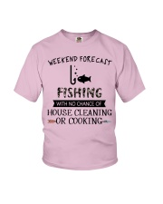 fishing-weekend forecast-cooking Youth T-Shirt thumbnail