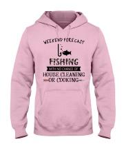 fishing-weekend forecast-cooking Hooded Sweatshirt front