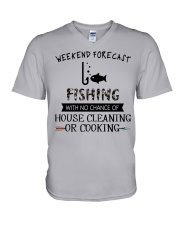 fishing-weekend forecast-cooking V-Neck T-Shirt thumbnail