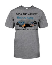 Dogs And Archery - Make Me happy Classic T-Shirt thumbnail