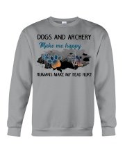 Dogs And Archery - Make Me happy Crewneck Sweatshirt thumbnail