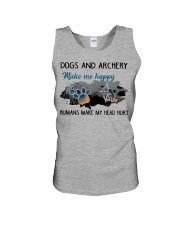 Dogs And Archery - Make Me happy Unisex Tank thumbnail