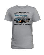 Dogs And Archery - Make Me happy Ladies T-Shirt thumbnail