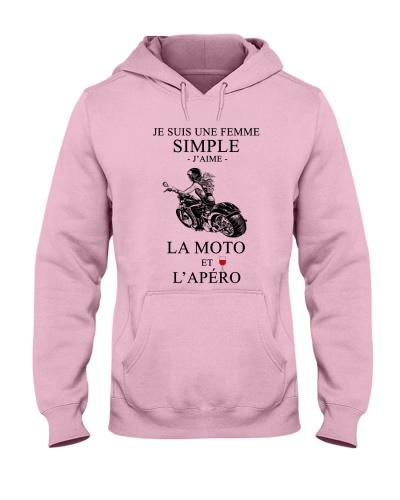 motorcycle-femme simple apero