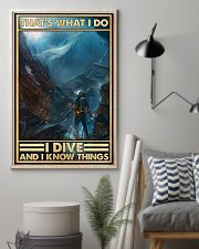 That's What I Do I Dive And I Know Things uyen 11x17 Poster lifestyle-poster-1