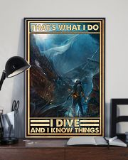 That's What I Do I Dive And I Know Things uyen 11x17 Poster lifestyle-poster-2