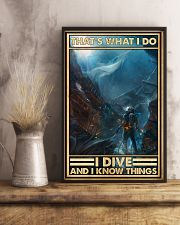That's What I Do I Dive And I Know Things uyen 11x17 Poster lifestyle-poster-3