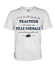 Fille Normale - TRACTEUR V-Neck T-Shirt tile