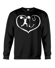 easily distracted by weight lifting and dog  Crewneck Sweatshirt thumbnail