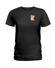Minnesota USA Flag hoof print PT  Ladies T-Shirt thumbnail