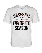 Baseball is my favorite season V-Neck T-Shirt thumbnail