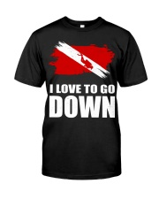 SCUBA DIVING GO DOWN Classic T-Shirt thumbnail