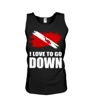 SCUBA DIVING GO DOWN Unisex Tank thumbnail