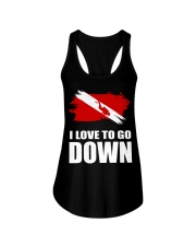 SCUBA DIVING GO DOWN Ladies Flowy Tank thumbnail