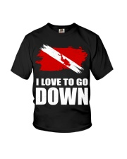 SCUBA DIVING GO DOWN Youth T-Shirt thumbnail