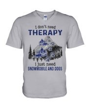 I Don't Need Therapy - Snowmobile V-Neck T-Shirt tile