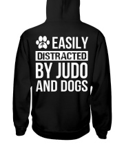 easily distracted by judo and dog  Hooded Sweatshirt back