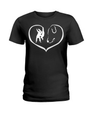 easily distracted by judo and dog  Ladies T-Shirt thumbnail