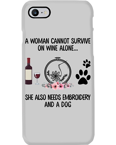 She needs wine dog embroidery