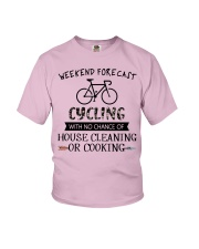 cycling-weekend forecast-cooking Youth T-Shirt thumbnail