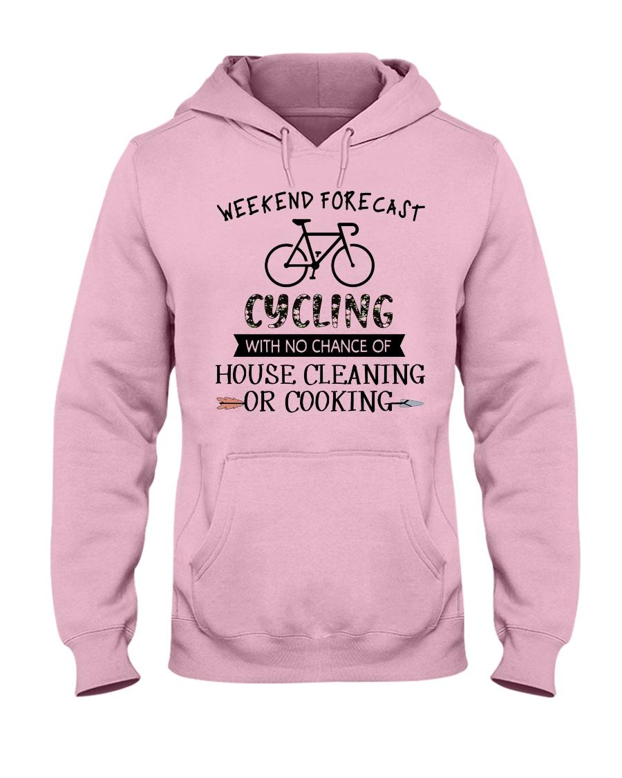 cycling-weekend forecast-cooking Hooded Sweatshirt
