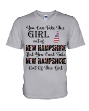 New Hampshire girl - you can V-Neck T-Shirt thumbnail