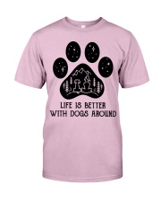 Dog - life is better Classic T-Shirt thumbnail