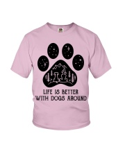 Dog - life is better Youth T-Shirt thumbnail