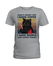 I Hate People Zombie Cat Ladies T-Shirt thumbnail