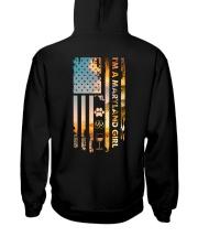 Maryland USA Flag Hooded Sweatshirt back