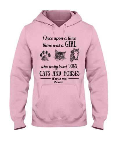 Horses upon dog cat Ha
