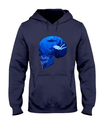 scuba diving Ocean Skull  PT