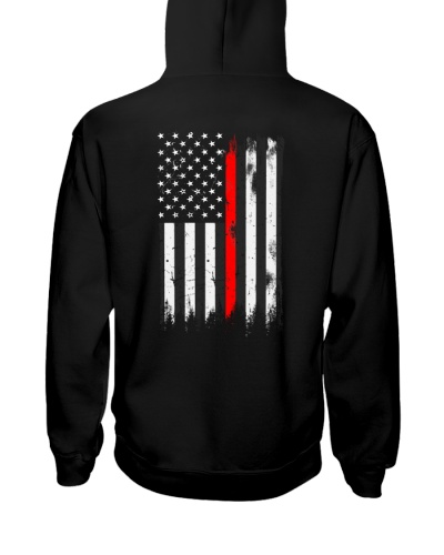 Red Line USA flag 2 sides printed