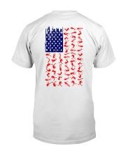 Scuba Diving Us Flag Classic T-Shirt back