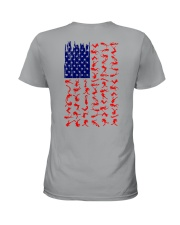 Scuba Diving Us Flag Ladies T-Shirt thumbnail