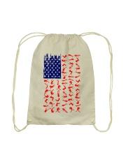 Scuba Diving Us Flag Drawstring Bag thumbnail