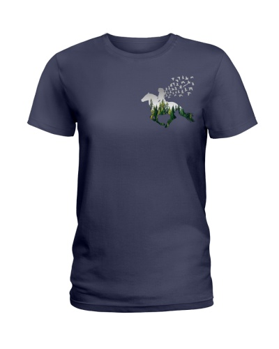 Horses into the forest - 2 sides printed Ha