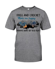 Dogs And Crochet - Make Me happy Classic T-Shirt thumbnail